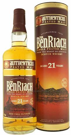 Benriach Scotch Single Peated Malt Authenticus 21 Year